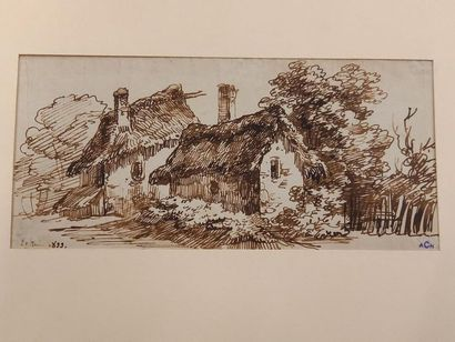 Alexandre CHATELAIN (1778-1852) La ferme...