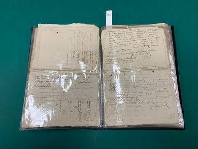 MANUSCRIT Un fort lot de de documents manuscrits...