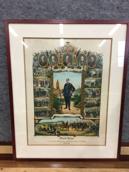 Tableau de conscrit Prussien daté 1902  H:...