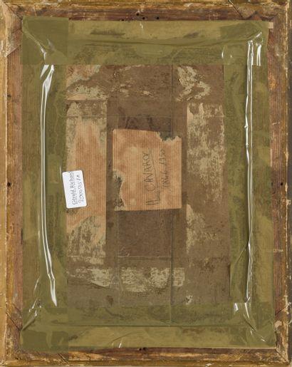 CAVAROC  Paysage de rivière  huile sur carton  Signé en bas à droite  27 x 20 c...