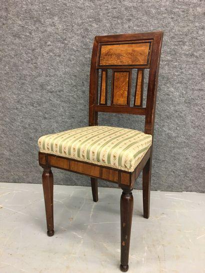 Chaise de bureau en bois de placage