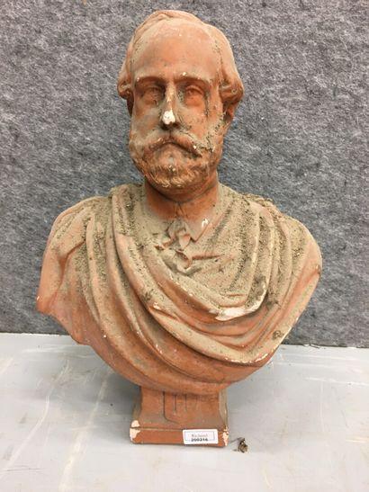 Buste en platre d'Henri V à l'antique  Accidents...