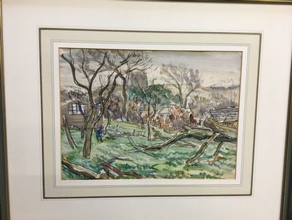 Henry George COGLE (1875-1957)  Paysage,...