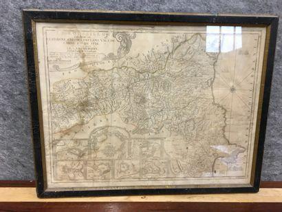 Carte du Roussillon  42 x 55 cm