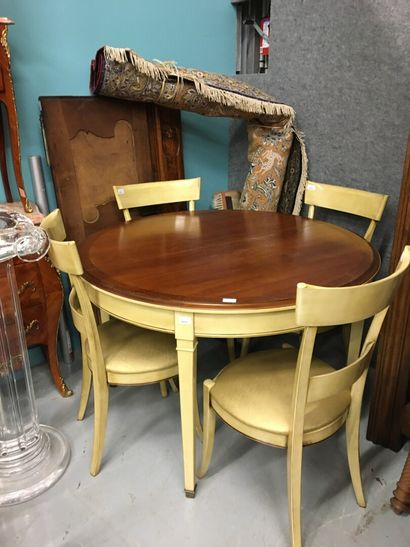 Meubles GRANGE  Table et quatre chaises en...