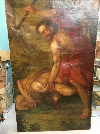 Abel et Cain  Huile sur toile  172 x 106...