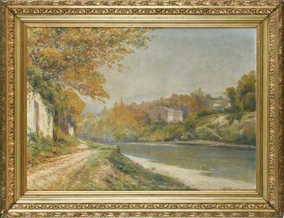 Jules IZIER (19ème, 20ème siècle)  Bord de...