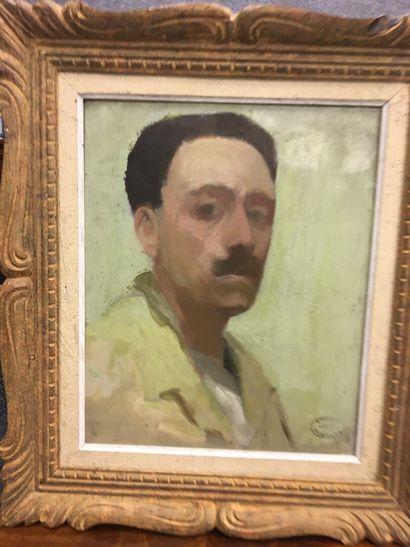Etienne Morillon (1884-1949)  Portrait huile...
