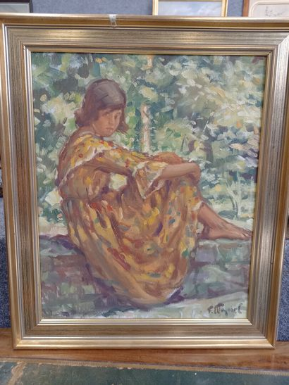 Fernand MAJOREL (1898-1965)  jeune fille...