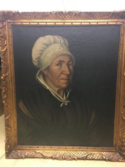 Ecole française 19ème siècle  Portrait d'une...
