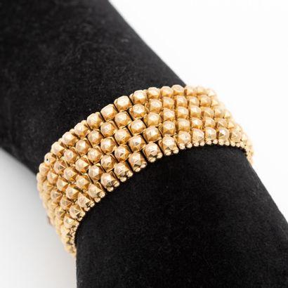 Bracelet en or jaune (750) 18K, manchette...