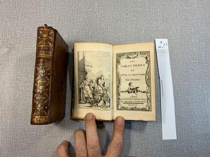 Les Caractères de la Bruyère. 2 volumes reliés...