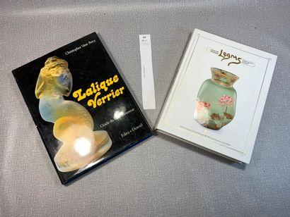 Un ensemble de 2 ouvrages: Legras: verrerie...