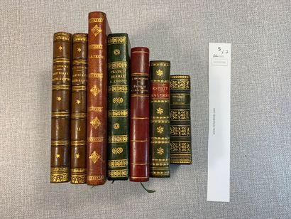 Un ensemble de 7 volumes bien reliés, première...