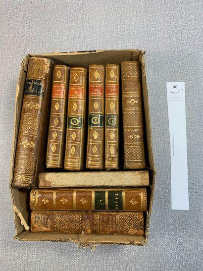 [Littérature]. 9 volumes reliés XVIIIe/XIXe,...
