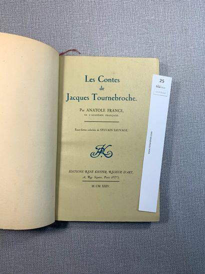 Anatole France. Les contes de Jacques Tournebroche....