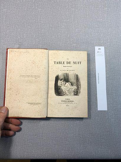 Paul de Musset. La table de nuit. Edition...