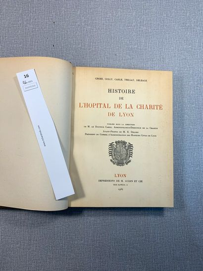 Croze et Colly. Histoire de l'Hôpital de...