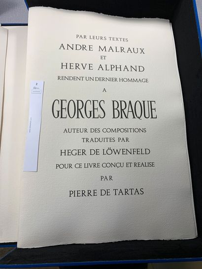 [Braque Georges et Heger De Lowenfeld]. Des...
