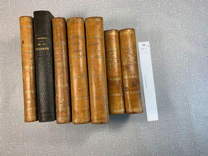[Médecine]. Un ensemble de 7 volumes reliés...
