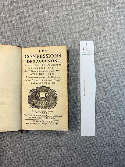 Les confessions de Saint-Augustin. 1 volume...
