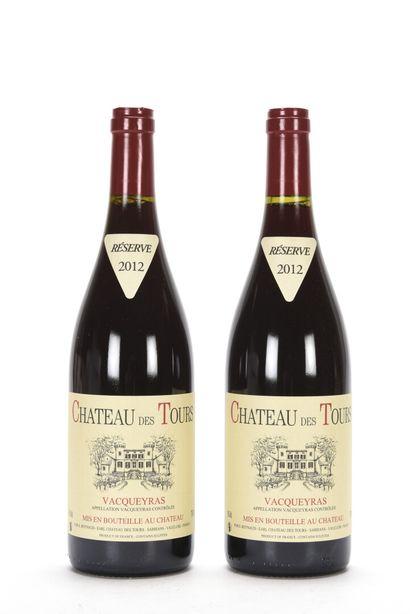 2 B VACQUEYRAS Château des Tours 2012  TVA...