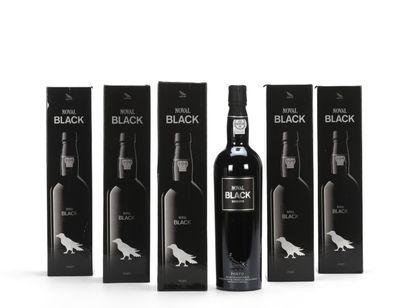 6 B PORTO BLACK NOVAL RÉSERVE 75 cl; 19,5%...