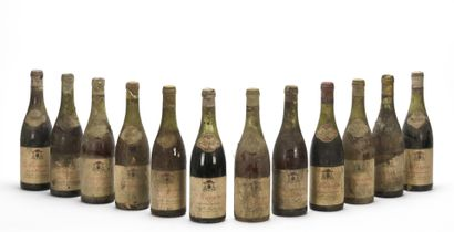 12 B VINS DIVERS BOURGOGNE (années 50-60)...