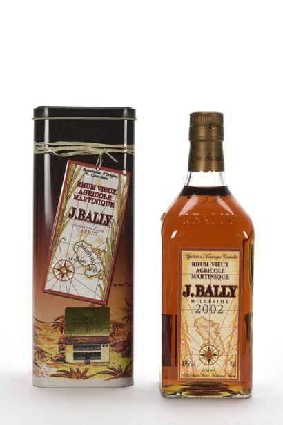 1 B RHUM 70 cl 43% (étui) Jean Bally 200...