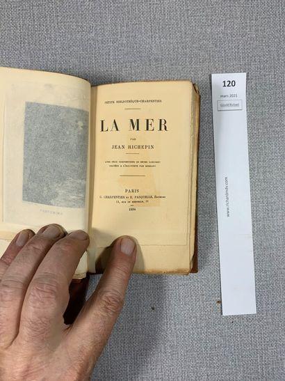 Jean Richepin. La mer. Un volume in-16, demi-reliure...