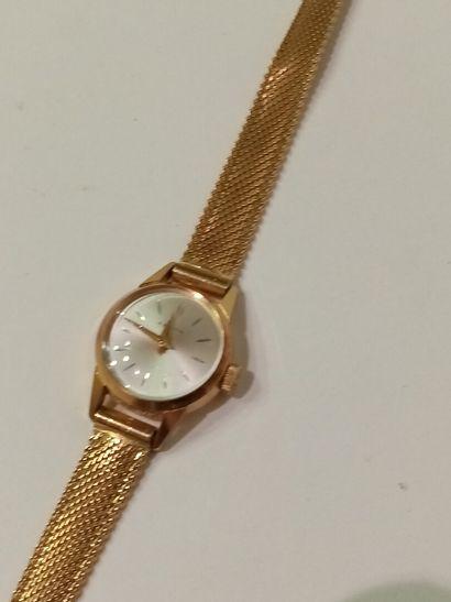 ZENITH, montre bracelet de dame en or (poinçon...