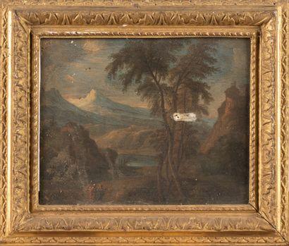 Ecole italienne du 18ème siècle  Paysage...