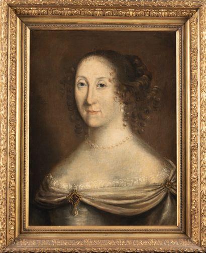 Ecole française du 17ème  Portrait de femme...