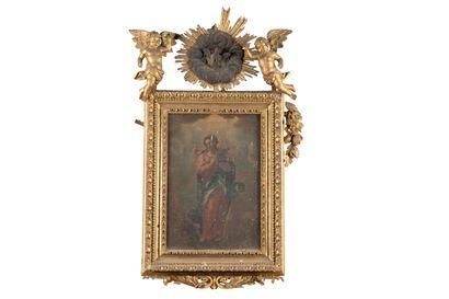 La Vierge de St Jean  Huile sur toile,  Cadre...