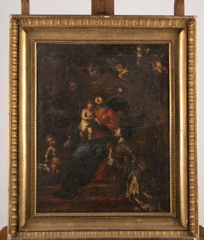 Ecole italienne vers 1750  Sainte Famille...