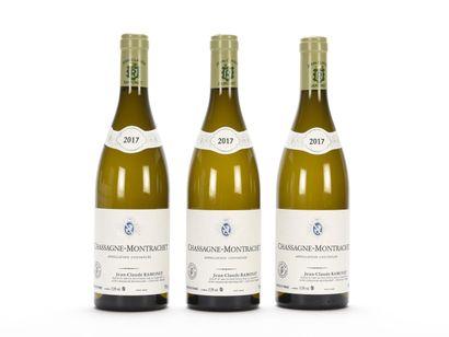 3 B CHASSAGNE-MONTRACHET Blanc Jean-Claude...