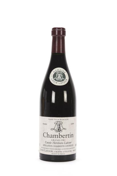 1 B CHAMBERTIN CUVÉE HÉRITIERS LATOUR (Grand...