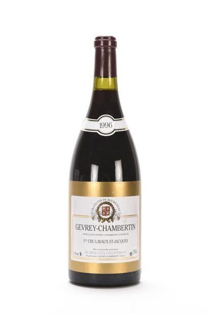 1 Mag GEVREY-CHAMBERTIN LAVAUX ST-JACQUES (1er Cru) Harmand-Geoffroy 1996