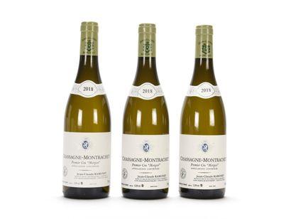 3 B CHASSAGNE-MONTRACHET MORGEOT Blanc (1er...