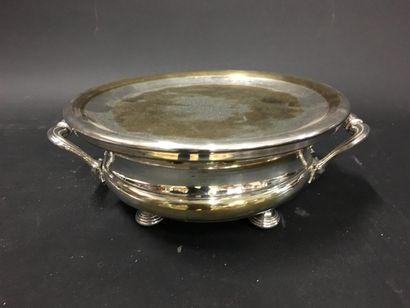 CHRISTOFLE Chauffe-plat en métal argenté...