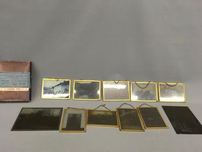 Lot de 11 plaques photographiques Lumièr...
