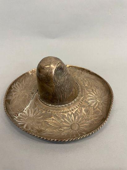 Sombrero en argent mexicain 925  261g