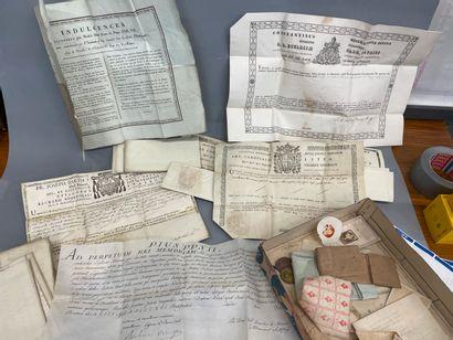Lot de certificats de reliques
