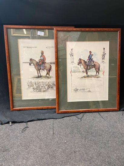 Deux reproductions  SOldats 1865 et 1839...