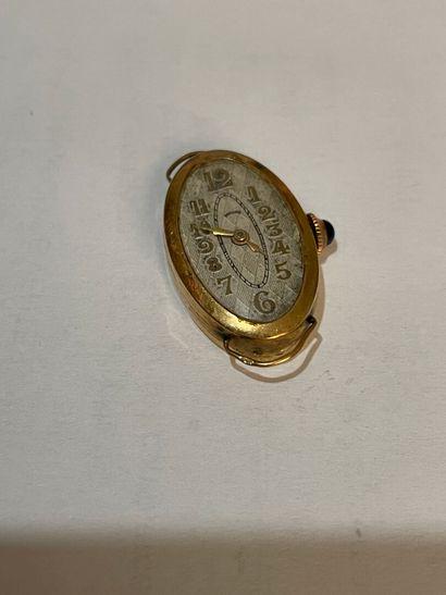Boitier de montre de dame en or  pds bru...
