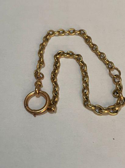 Chaine de montre en or jaune pds 16, 03 ...