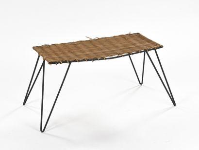 TRAVAIL 1950  Table d'appoint à structure...