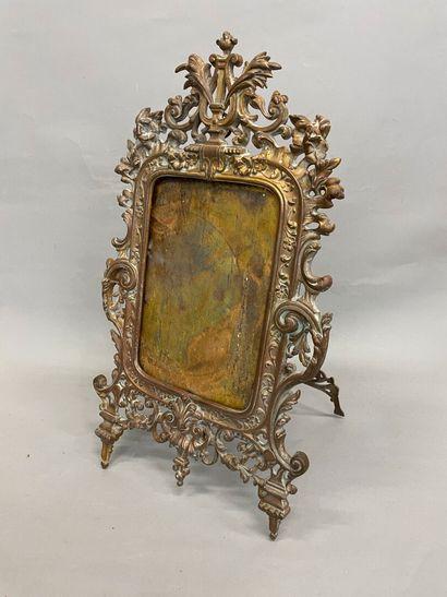 Miroir de table en bronze  Manque le miroir...
