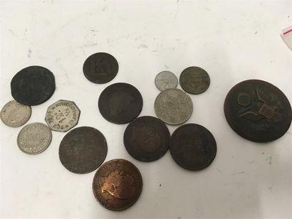 Lot de pièces en cuivre 19eme et 20ème