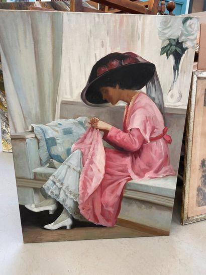 La reprise  Huile sur toile  100 x 73 cm